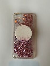 iPod Touch Liquid Waterfall Glitter Case and Pop Socket 5th 6th 7th Generation