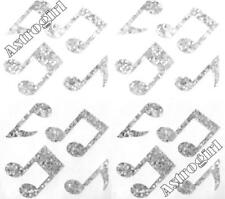 ~ Sparkle Silver Music Notes Musical Musician Hambly Studios Glitter Stickers ~