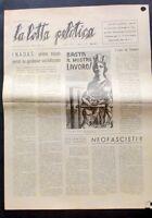 La lotta politica - Giornale MSI -  N. 10 - Anno III - 5 Marzo 1949