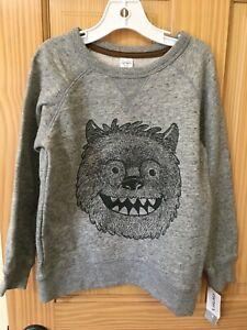 NEW Carter's Boys Bear Sweatshirt Pullover Jacket Gray