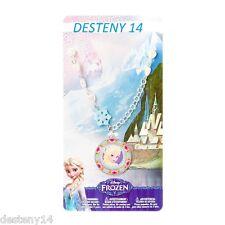 Disney Princess Frozen Elsa Girl's Pendant Necklace Sparkly Snowflakes Hearts