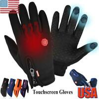 Winter Gloves Waterproof Touch Screen Snow Ski Riding Windproof Warm Gloves USA