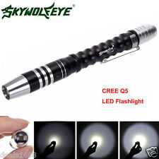 2000 Lumens Tactical Flashlight CREE Q5 LED Powerful Torch AAA Lamp Bright Light