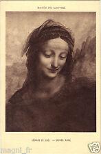 Art - cpa - Sainte Anne par Léonard de Vinci - Musée du Louvre