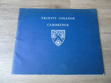 Trinity College Cambridge book on 1965 appeal on work completed