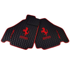 Ferrari 360 Spider Modena Floor Mats Bespoke Black w/ Red Trim BRAND NEW