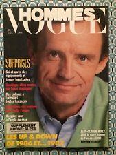 VOGUE HOMMES 95 Dec 1986 Jean Claude Killy Mode
