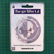 Death Korps of Krieg Autocannon Team 2 Forge World 40K 0958