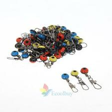 60x Tackle Running Ledger Slider Snap Connector Swivels Fishing Gear Accessory