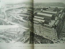 View of the new Station Saint Great Lazarus Engraving 1886
