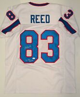 Andre Reed Autographed White Pro Style Jersey- JSA Authenticated 2a8acebe1