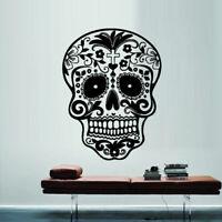 Wall Decal Sticker Vinyl Decor Sugar Skull Graphics Emo Goth Gothic Metal M712