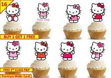 32 HELLO KITTY Cup Cake Fairy Wafer Rice Toppers Birthday Party Edible STAND UP