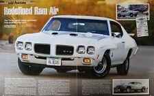 1970 Pontiac Ram Air IV The Judge GTO - Original 5 Page Full Color Article