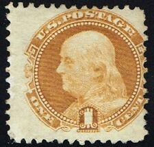 US Sc# 112 *MINT RG LH* { 1c BUFF FRANKLIN } PICTORIAL OF 1869 SERIES CV$ 250.00