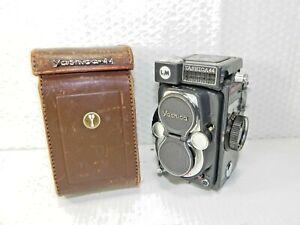 Yashica 44 LM TLR Dual Lens Camera Copal-SV 60mm Lenses with Case