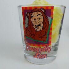 Wizard of Oz Cowardly Lion MGM Grand Rocks Cocktail Glass Las Vegas 1997 Vtg
