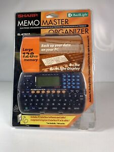 Sharp Electronic Memo Master Organizer NEW EL-6790B Vintage digital