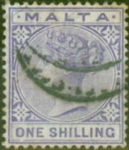 Malta 1885 1s Violet SG28 Fine Used