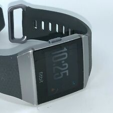Fitbit Ionic 36mm Smoke Gray Aluminum Case Charcoal Classic Buckle - (503GYBK)