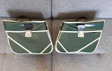 2x Sacoches incurvées en simili cuir 1970s vélo vintage France old bicycle bag