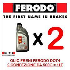 OLIO FRENI FRIZIONE FERODO FBX050Z DOT4 100% SINTETICO 1 LITRO