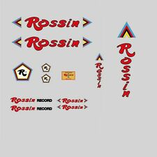 RECORD ROSSIN decals-transfers-stickers - RED # 8