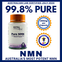NMN Pure Nicotinamide Mononucleotide 99.8% Certified NAD+ 250mg Australian Owned