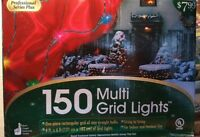 150 LIGHTS MULTI COLORED  GRID 4 FT BY 6 FT ONE PIECE RECTANGULAR NEW