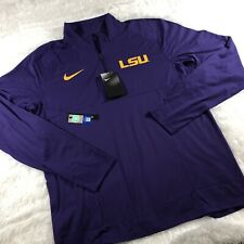 Nike LSU Tigers Mens Purple Element Long Sleeve 1/4 Zip Pullover Sz Large L $70