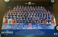 TORONTO MAPLE LEAFS 100 Greatest HOCKEY POSTER CANADIAN TIRE 100TH ANNIVERSARY *