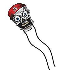 Delta Kids Kite Wiggle Skull + RipStop Nylon + Tails + Line + Handle +Quick Clip