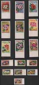 Burkina Faso 1963 Flowers set of 16 imperf