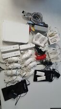 Nintendo WII LOT Console w/wires + Bar 3 remotes 11 Nunchucks  5 Chargers UNTEST