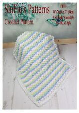 CROCHET PATTERN for CROCODILE STITCH BLANKET AFGHAN  #337 NOT CLOTHES