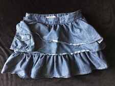 DKNY Girls Size 12 Blue Jean Skirt Snap Pockets