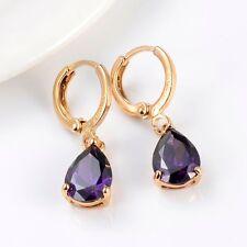 Luxury Women Earrings 18k Yellow Gold Filled elegant Dangle Fashion Jewelry
