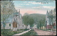 WESTFIELD PA Church Street Vintage 1918 Postcard Early Town View Pennsylvania PC