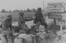 WW2 German Motorcycle Troops, Eastern Front WWII World War Two Wehrmacht / 2128