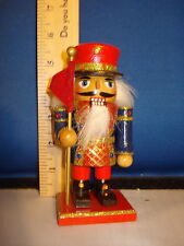 Nutcracker Wooden Blue Jacket and Red Flag 6 inches 3758B  240