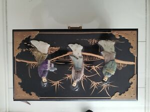 Vintage Japanese Chrysanthemum Trinket Jewelry box