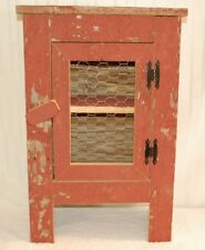 "Barn Wood Cabinet with Chicken Wire Door - Measures 22"" x 16"" x 30"" Tall"