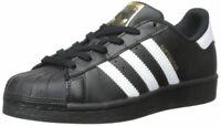 Adidas B23642: Big Kid Originals Superstar Foundation J Casual Black Sneaker