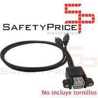 Cable extension alargador Doble USB 2.0 macho a Doble USB hembra montaje panel