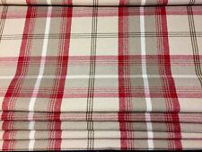 PORTER & STONE CRANBERRY TARTAN ROMAN BLACKOUT LINED BLIND MADE TO MEASURE.