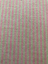 Hot Pink and Lime Green Stripe Fabric BY THE YARD
