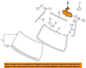 TOYOTA OEM Inside-Rearview Rear View Mirror 8781052010B1