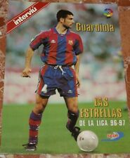 POSTER EN RELIEVE DE PEP GUARDIOLA 1996-97 BARCELONA ESPAÑA