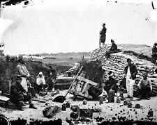 New 8x10 Civil War Photo: Exploded Gun in Confederate Battery, Yorktown