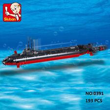 Sluban B0391 Army Navy Nuclear Submarine Ship Building Block Toy Bricks Toys